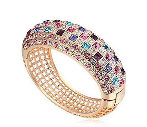 Yuriao Jewelry Luxury Queen Exquisite Diamond Accented Bangle Bracelet£¨rose - Quarter Shops Scottsdale
