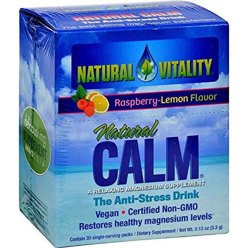 Natural Vitality Magnesium Natural Calm Raspberry Lemon - 30 Packets -