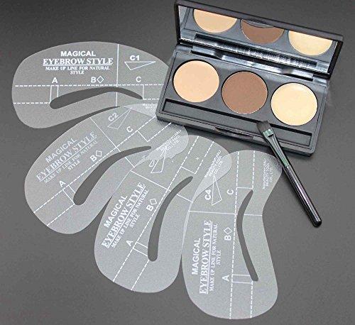how to use eyebrow wax and powder