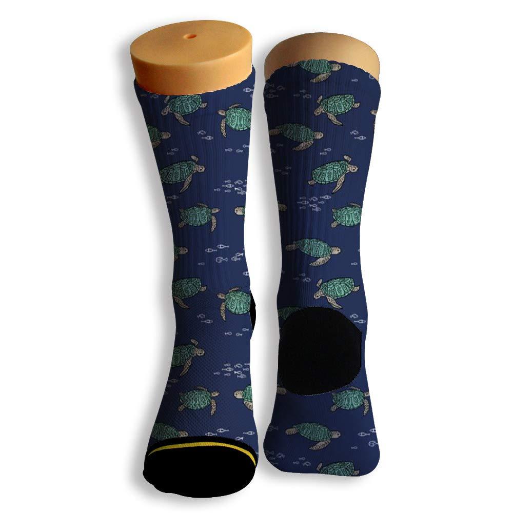 Basketball Soccer Baseball Socks by Potooy Tender turtle Poster 3D Print Cushion Athletic Crew Socks for Men Women