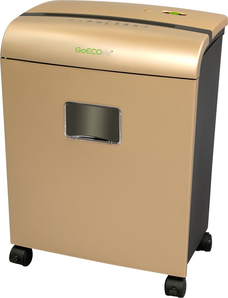 GoECOlife GMW101Piii Limited Edition 10-Sheet High Security Microcut Paper Shredder, Gold by GoECOlife