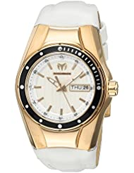 Technomarine Womens Cruise Quartz Stainless Steel and Silicone Casual Watch, Color:White (Model: TM-115391)