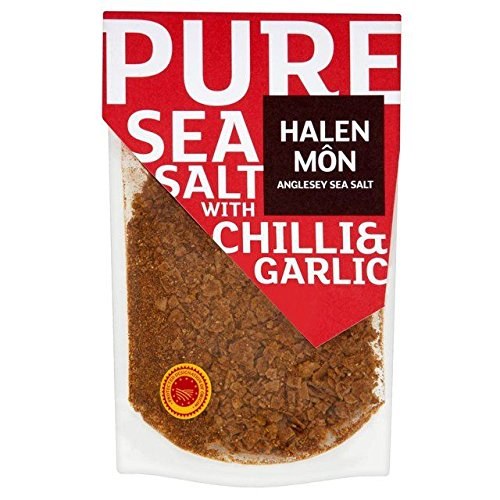 Halen Mon Sea Salt - Halen Mon Chilli & Roasted Garlic Sea Salt PDO - 100g