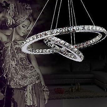 ALFRED® Lámpara Colgante LED de Cristal Estilo Lujoso Moderna, Techo luz,montaje empotrado,Bedroom, Living Room