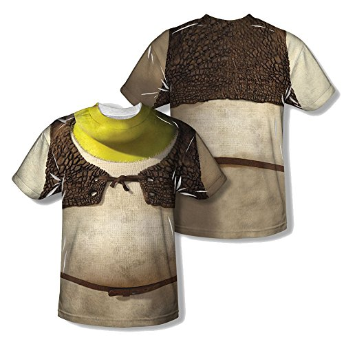 [Sublimation Front/Back Ogre Costume Shrek T-Shirt] (Fiona Adult Costumes)