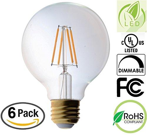 Clear Globe Led Light Bulbs - 5