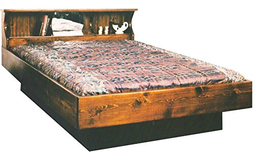 Waterbeds Pine (Strobel Organic Portland Complete Waterbed Premium Solid White Pine Oak Finish King)