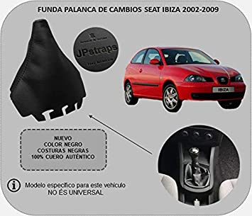 Funda Palanca de Cambios 100% Piel Color Negro Compatible SeatIbiza 2002-2008: Amazon.es: Coche y moto