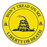 Gadsden Don't Tread on Me - Liberty or Death - Circle - Window Bumper Sticker
