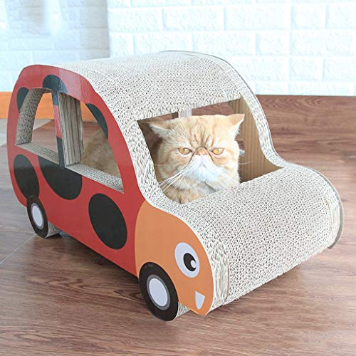 CXQ Creative Beetle Model Cat Scratch Board Comfortable Breathable Cat Worm Sofa Cat Climbing Cat Toy Pet Supplies