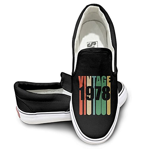 SH-rong Vintage 1978 Unisex Canvas Sneakers Shoes Size 39 - Brands British Sunglasses