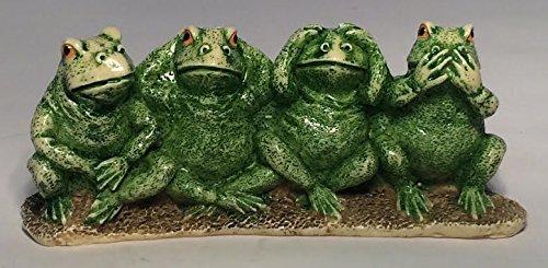 Hear No Evil See No Evil Frog Figurine