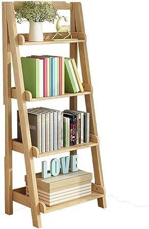 Madera sólida Repisa escalera Estantería de bambú,Espesado Asesinato Montaje fácil Esquina Soporte de la flor Soporte de exhibición de la biblioteca Pie de Para hogar u oficina -J 60x30x140cm(24x12x55inch): Amazon.es: Hogar