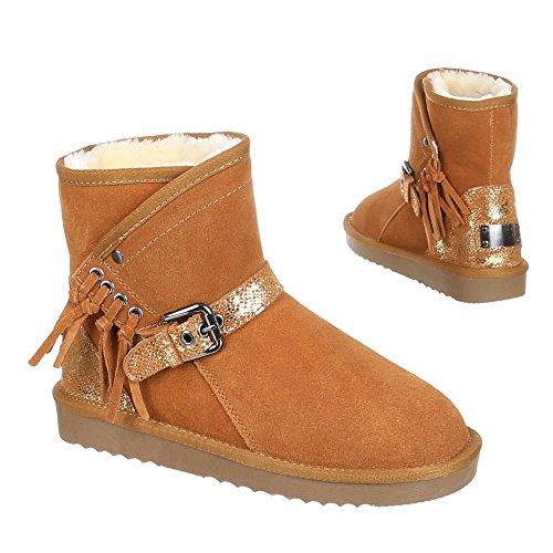 2 Stiefel Braun 5803 Damenschuhe Kamel W01aFOnwwq