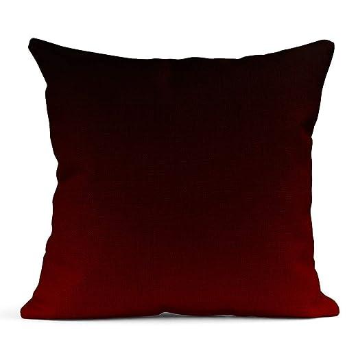 Kinhevao Cojín Abstracto Rojo Negro Oscuro Plantillas de ...