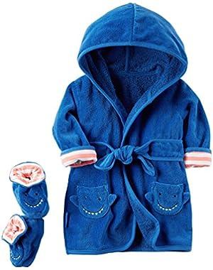 Carter's Baby Boys' 2-Piece Shark Robe And Booties Set