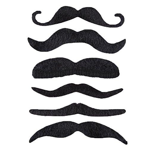 [Costume Party Halloween Fake Mustache Moustache Funny Fake Beard Whisker Black] (Moustache Halloween)