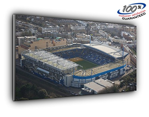 (Chelsea FC Stamford Bridge Stadium Panoramic Canvas Print Picture 50 inch x 20 inch Over 4 Foot Wide x 1.5 Foot high Ready to Hang Stunning Quality )