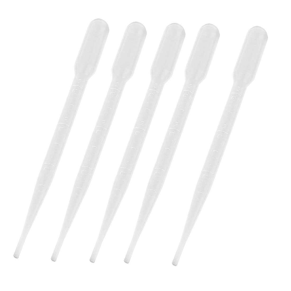 5 Pcs 3ML Capacity Lab Laboratory Clear Pipettes Droppers 6.1' Long Sourcingmap a13111900ux1451