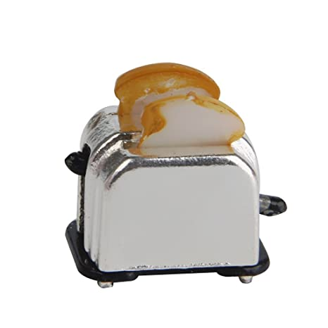 1//12 Scale dollhouse bread machine with toast miniature cute decor Toaster FLA