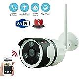 WIFI Wireless Security Camera YADEA 720P Wifi Bullet IP Camera Indoor Home Security Surveillance Camera Outdoor IP66 Weatherproof with Night Vision Motion Detection Alarm