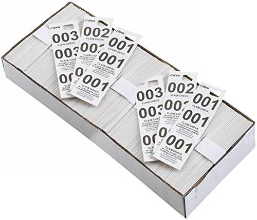 Price comparison product image Winco Coat Checks,  CCK-5WT,  White,  Pack of 2 (500 Per Box)