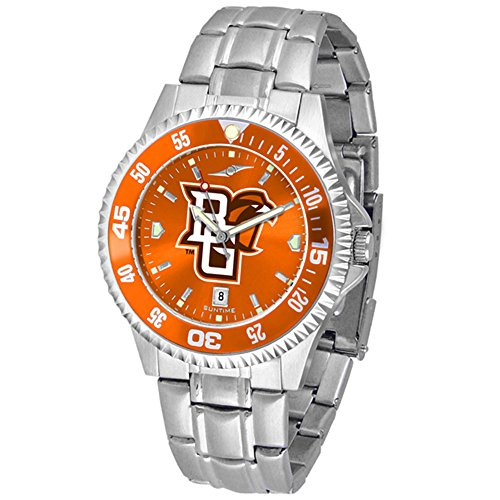 Executive Mens Falcons Watch (Bowling Green State Falcons Competitor Steel AnoChrome Color Bezel Men's Watch)