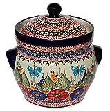 Polish Pottery Fermenting Crock Pot From Zaklady Ceramiczne Boleslawiec, Height: 6'', Capacity: 7 Cups