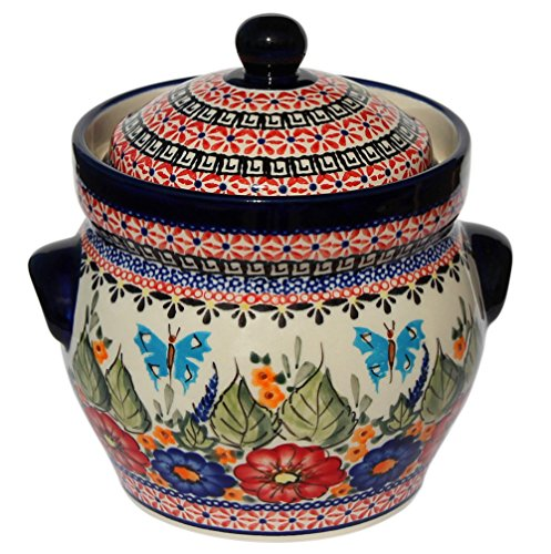 Polish Pottery Fermenting Crock Pot From Zaklady Ceramiczne Boleslawiec, Height: 6'', Capacity: 7 Cups by Polish Pottery Market