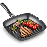 indian kitchen trading Big Grill Pan,Nonstick Grill Pan,Grill Pan,Grill Pan,Non-Stick Square Toast Pan,Grilled Cheese Non-Stick Pan,Square,cookware pan,Frying pan,Square Grill pan 220mm