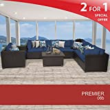 Premier 8 Piece Outdoor Wicker Patio Furniture Set 08b