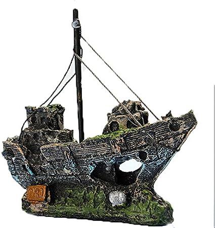 Kfnire Decoraciones del Tanque de Pescados, Ornamento del Acuario ...