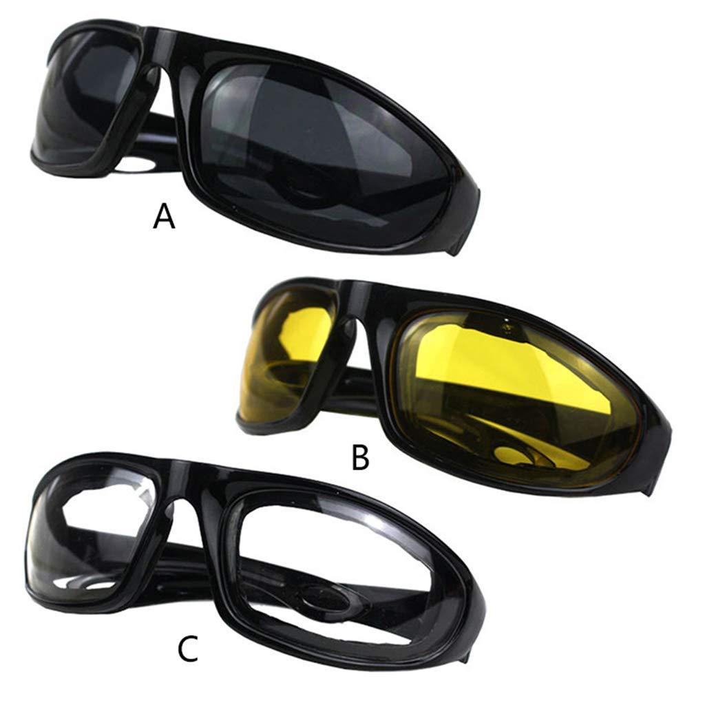 Amarillo guoyy conducci/ón Moto Gafas de protecci/ón Gafas de Sol Cortavientos equitaci/ón Motor Gafas de Ciclismo en Plein Air Universal