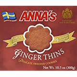 2 pack - Annas Ginger Thins, Delicate Swedish Cookies, 10.5 Oz each box