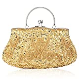 1920S Vintage Style Sequined Handmade Beaded Embroidered Evening Bag Party Handbag Clutch Purse for Women