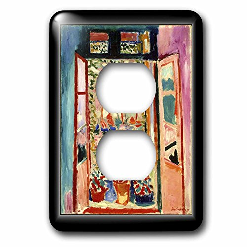 Matisse Rose (3dRose lsp_56088_6 Matisse Painting the Open Window 2 Plug Outlet Cover)