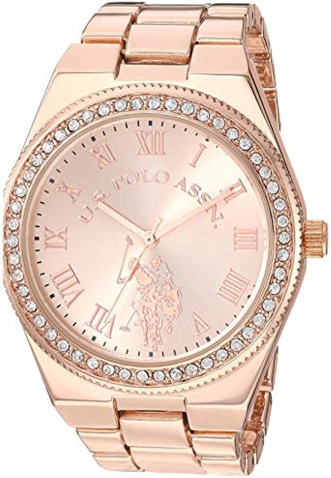 U.S. Polo Assn. Women's Analog-Quartz Watch with Alloy Strap, Rose Gold, 8.5 (Model: USC40225)