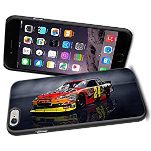 NASCAR RACING ACTION, Cool iPhone 6 Smartphone Case Cover Collector iPhone TPU Rubber Case Black