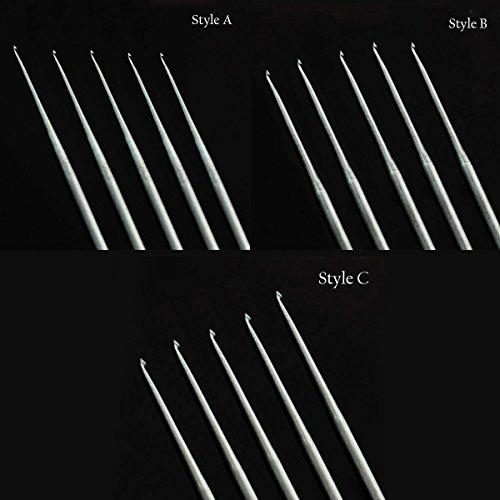 Aari Needles For Resham (Silk), Zari & Knit Thread (5 Needles per packet) (All 3 (Needle 5 Thread)