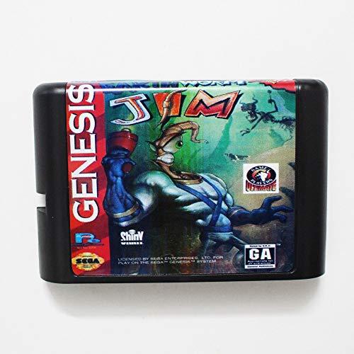 - Value★Smart★Toys - Earth Worm Jim 16 bit MD Game Card for Sega Mega Drive for Genesis