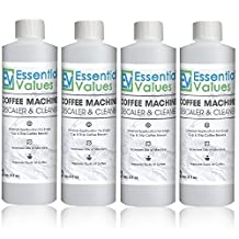 Keurig Descaler (4 PACK), Universal Descaling Solution For Keurig, Delonghi, Nespresso And All Single Use, Coffee Pot & Espresso Machines By Essential Values ...