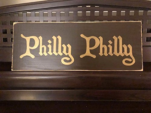 PHILLY PHILLY Beer Home Bar Pub Cheers Tap Room Sign Plaque Decor Philadelpia Eagles Superbowl Champions WOOD U-Pik Color FREE SHIPPING ()