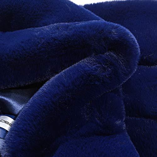 Gilet Folobe Fur Womens Per Darkblue 'soft Faux Vest Adulto XnqndzwxF