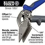 Hand Seamer, Offset Metal Seamer has 3-Inch Jaw, Bends 22 Gauge Steel and 24 Gauge Stainless Klein Tools 86524
