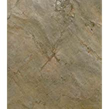 Boulanger EcoSlate Peel-N-Stick Slate Veneer Wall Tile, 3-Inch by 6-Inch, Burning Forest Copper, Pack of 32