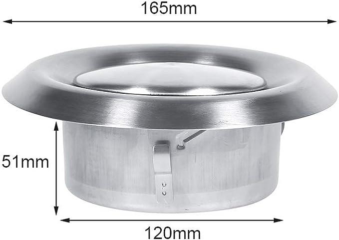 4 Pouces Prise air 81 cm Acier rond Grille  pour ventilation