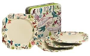 Rosanna 12 Days Of Christmas Gift-Boxed Dinner Plates, Set of 4