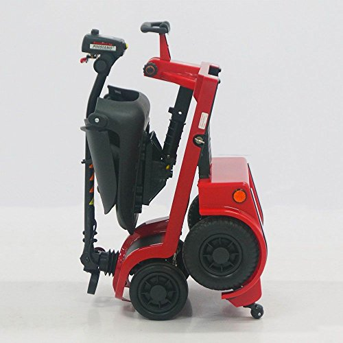Pro Rider Dulexe Easy Folding Mobility Scooter - Electric Scooters for Adult Red