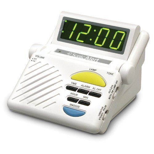 Sonic Alert SB1000 Sonic Boom Loud Vibrating Alarm Clock with Built In Receiver Athletics, Exercise, Workout, Sport, - Sonic Alert Clock