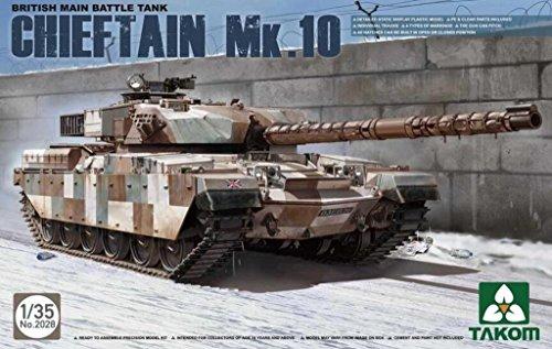 Main Tank British Battle (Takom 1:35 British Main Battle Tank Chieftain Mk.10 Plastic Model Kit #2028)